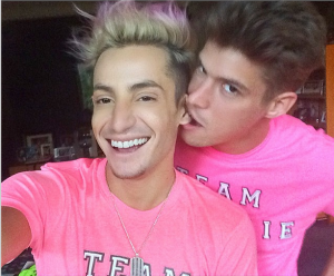 Zach biting Frankie's ear